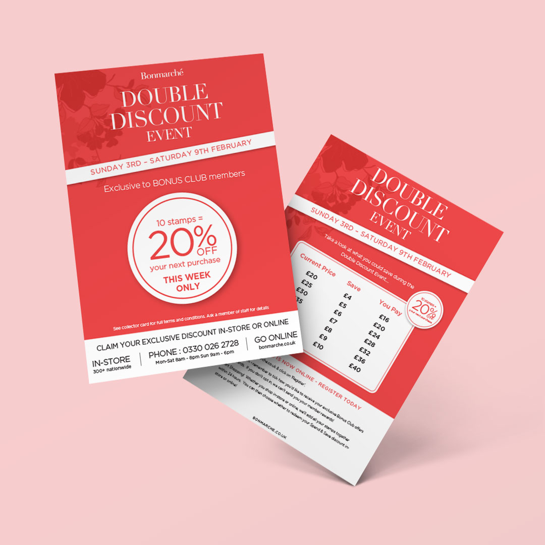 Bonmarché double sided flyer