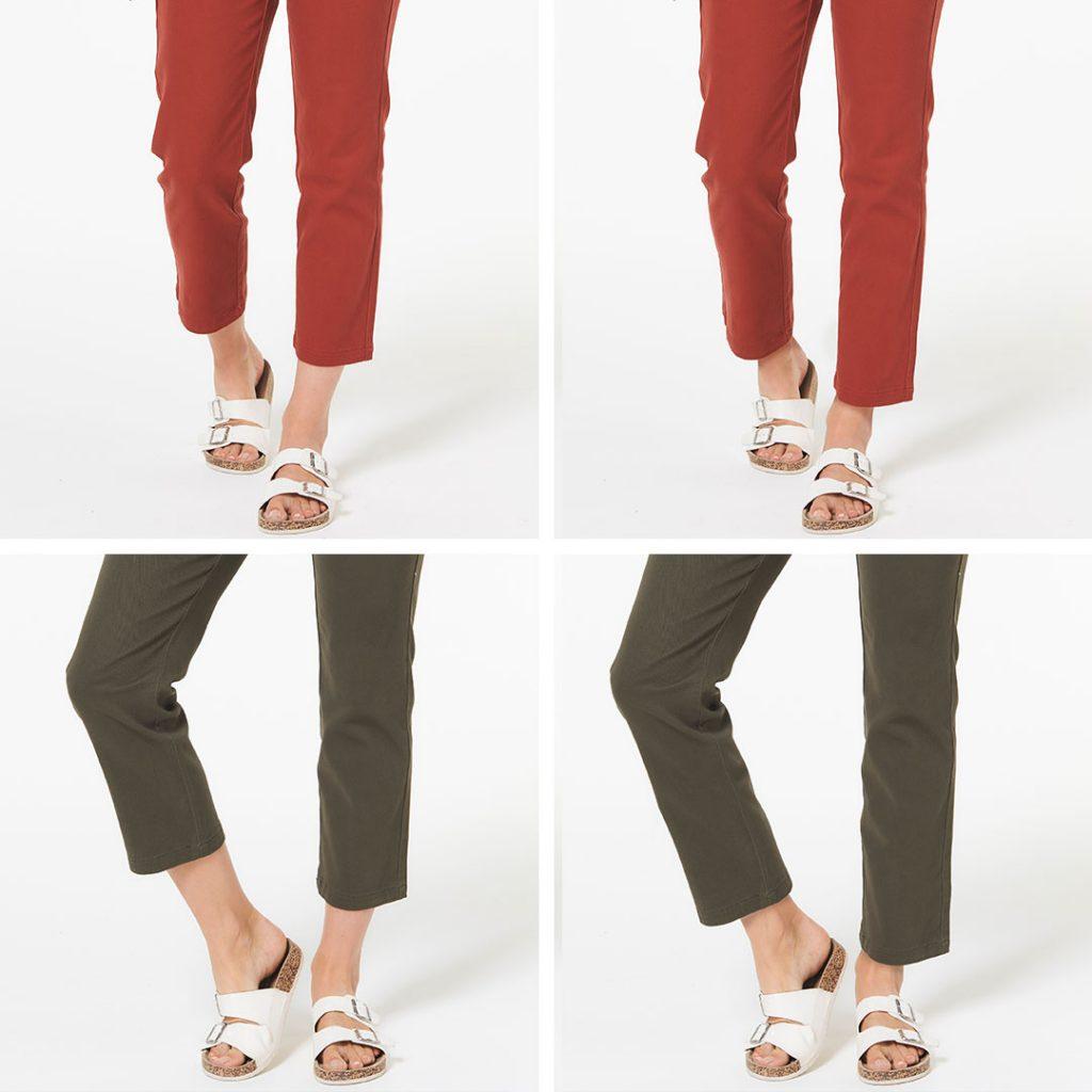 Image retouching trouser lengthen
